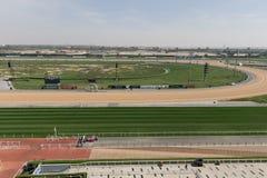 Meydan Racecourse in Dubai, United Arab Emirates. General view of Meydan Racecourse in Dubai, United Arab Emirates. The Dubai World Cup is run at Meydan on the Royalty Free Stock Photography