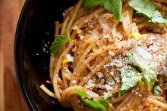 Meyer Lemon Spaghetti Royaltyfria Bilder