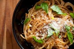 Meyer Lemon Spaghetti Stock Photo