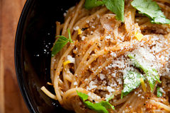 Meyer Lemon Spaghetti Royalty Free Stock Images