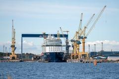 Meyer Turku-Werft Stockfoto