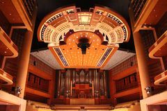 Meyerson symfonimitt, hem av Dallas Symphony Orchestra royaltyfri foto