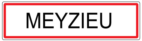 Meyzieu city traffic sign illustration in France Royalty Free Stock Photography