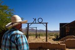 Mezcal Arizona del aniversario de la película de la piedra sepulcral 25to Imagen de archivo