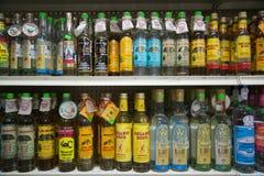 Mezcal i Tequila butelki Fotografia Royalty Free