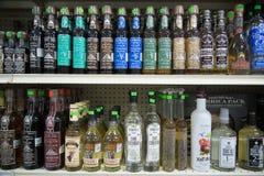 Mezcal i Tequila butelki Zdjęcie Stock