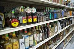 Mezcal i Tequila butelki Zdjęcia Royalty Free