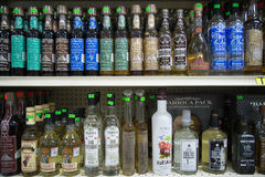 Mezcal and Tequila bottles Royalty Free Stock Photography