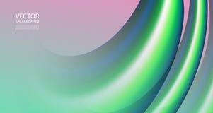 Mezcla abstracta 3D de colores y de líneas Ilustración del Vector