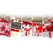 Mezcla abstracta de la Navidad Foto de archivo libre de regalías