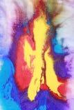 Mezcla abstracta de pinturas Imagen de archivo libre de regalías