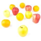 Mezcla amarilla de Apple y de la fruta Fotografía de archivo