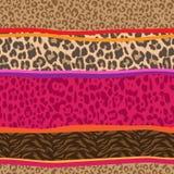Mezcla animal fresca ~ fondo inconsútil ilustración del vector