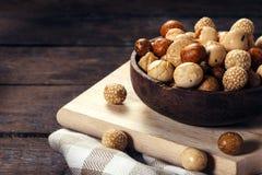 Mezcla asiática de los cacahuetes Imagenes de archivo