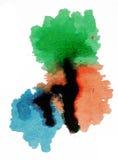 Mezcla azulverde roja de la pintura imagen de archivo libre de regalías