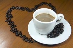 Mezcla caliente del café del amor Imágenes de archivo libres de regalías