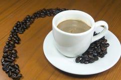 Mezcla caliente del café del círculo Imagenes de archivo