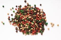 Mezcla coloreada de las pimientas Fotos de archivo
