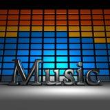 música 3D Imagenes de archivo