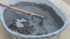 Mezcla concreta del cemento Foto de archivo