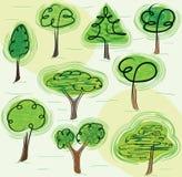 Mezcla de árboles ilustración del vector