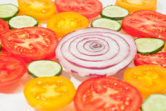 Mezcla de agrios coloridos en blanco Imagen de archivo libre de regalías