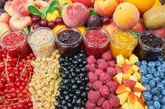 Mezcla de atascos y de frutas Imagen de archivo libre de regalías