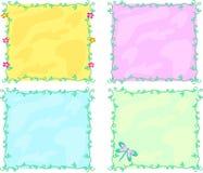 Mezcla de bastidores coloridos de vides y de decoraciones Fotos de archivo libres de regalías