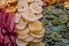 Mezcla de diversas frutas escarchadas Imagenes de archivo