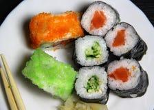 Mezcla de especialidades del sushi Imagen de archivo