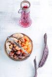 Mezcla de frutas y de nueces secadas Imágenes de archivo libres de regalías