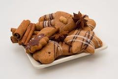 Mezcla de galletas y de especias Imágenes de archivo libres de regalías