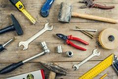 Mezcla de herramientas del trabajo Imagenes de archivo