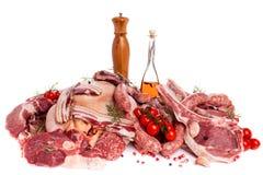 Mezcla de la carne Imagen de archivo libre de regalías