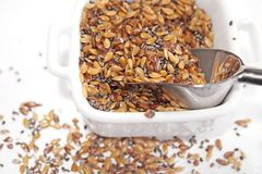 Mezcla de la semilla en cuenco Imagen de archivo libre de regalías