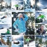 Mezcla de la snowboard Fotografía de archivo