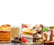 Mezcla de la torta y del café Imagen de archivo libre de regalías