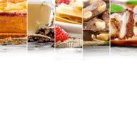 Mezcla de la torta y del café Foto de archivo libre de regalías