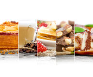 Mezcla de la torta y del café Imágenes de archivo libres de regalías