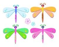 Mezcla de libélulas dulces Foto de archivo libre de regalías