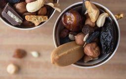 Mezcla de los frutos secos Imágenes de archivo libres de regalías