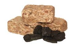 Mezcla de madera y del carbón Foto de archivo