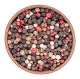 Mezcla de pimiento picante de las pimientas Foto de archivo libre de regalías