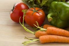 Mezcla de verduras en la ensalada Imagen de archivo
