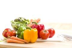 Mezcla de verduras en la ensalada Fotos de archivo libres de regalías