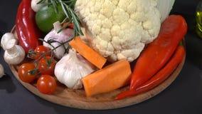 Mezcla de verduras y de especias metrajes
