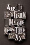 Mezcla del alfabeto Foto de archivo