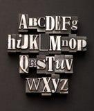 Mezcla del alfabeto Fotos de archivo libres de regalías