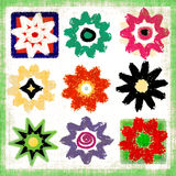 Mezcla del arte pop de la potencia de flor Imagen de archivo