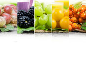 Mezcla del jugo de fruta Foto de archivo libre de regalías